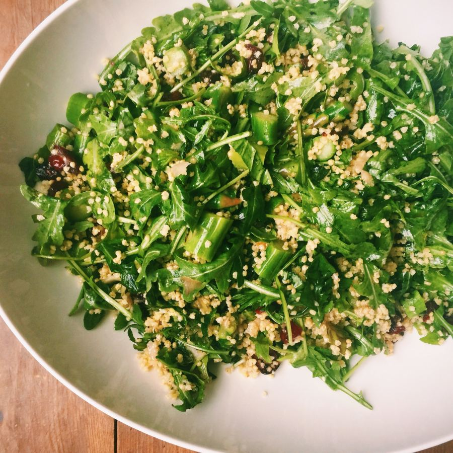 Millet and Greens Salad / Katie Workman themom100.com