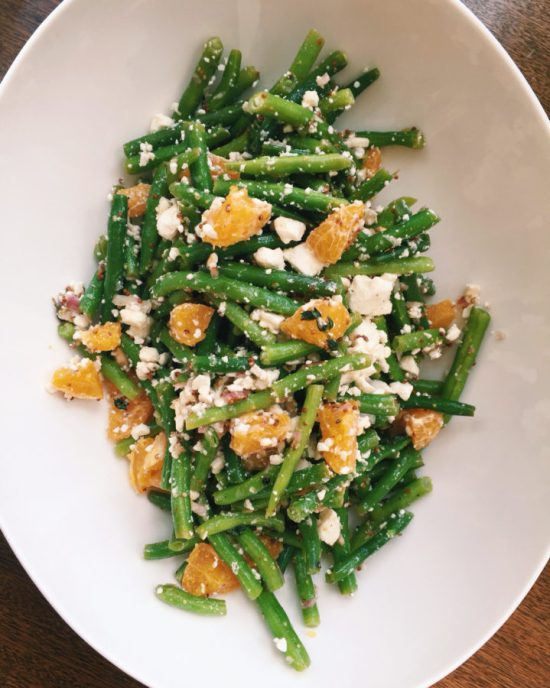 Green Bean Salad with Clementine Oranges and Feta / Katie Workman / themom100.com