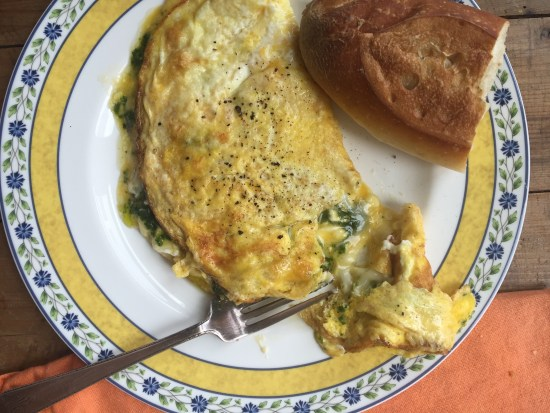 Kale Pesto and Goat Cheese Omelet / Katie Workman / themom100.com