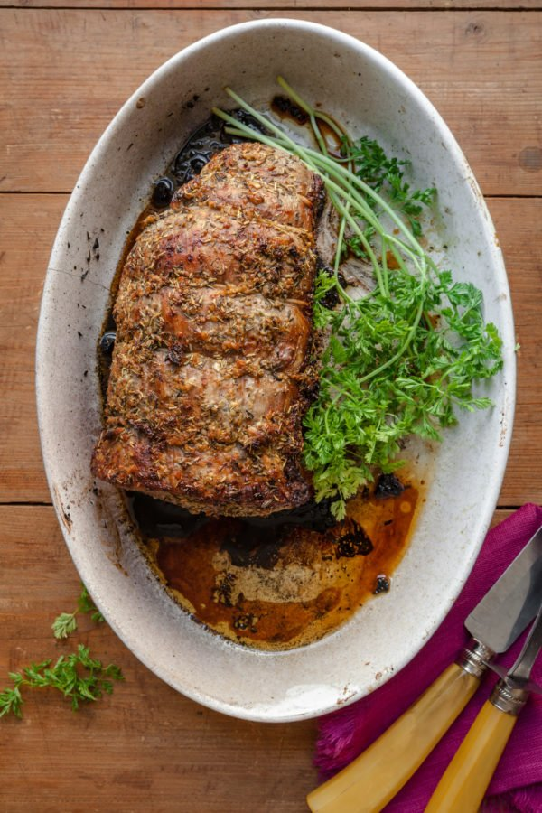 Roast Beef with Thyme and Rosemary