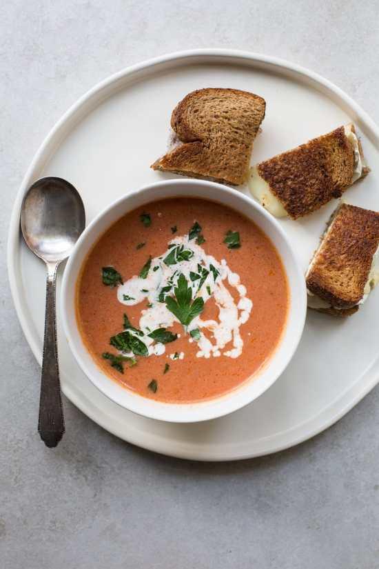 Creamy Tomato Soup / Sarah Crowder / Katie Workman / themom100.com
