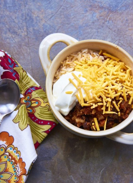 Beef, Black Bean and Jalapeno Chili / Mia / Katie Workman / themom100.com