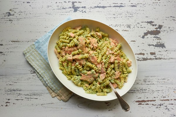 Pasta Salad with Salmon and Creamy Cilantro Dressing / Mia / Katie Workman / themom100.com