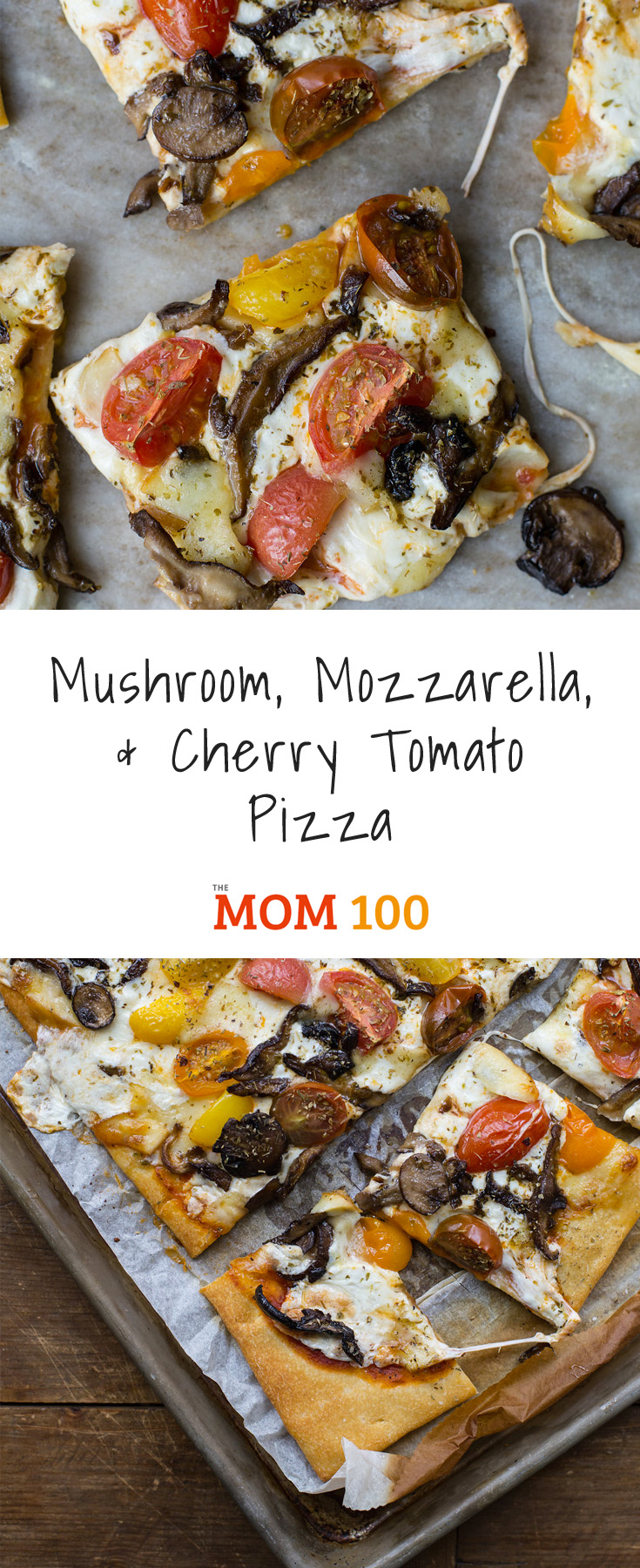 Mushroom, Mozzarella, and Cherry Tomato Pizza: In flavor and in looks, this vegetarian keeps you on your toes, in a really good way.