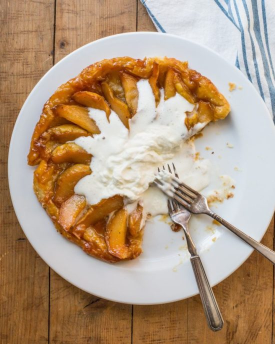 how to make pear tart tatin with puff pastry