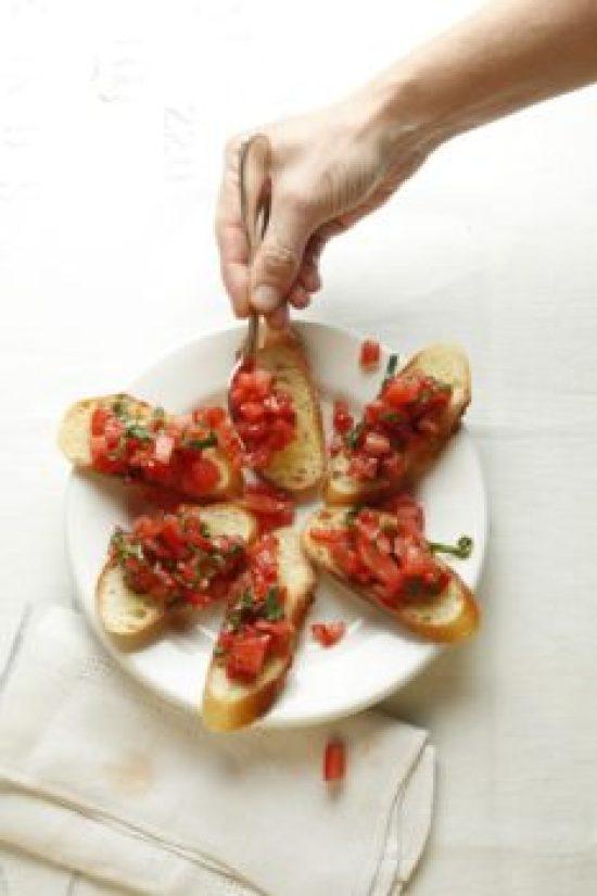 Tomato Bruschetta / Todd Coleman / Katie Workman / themom100.com