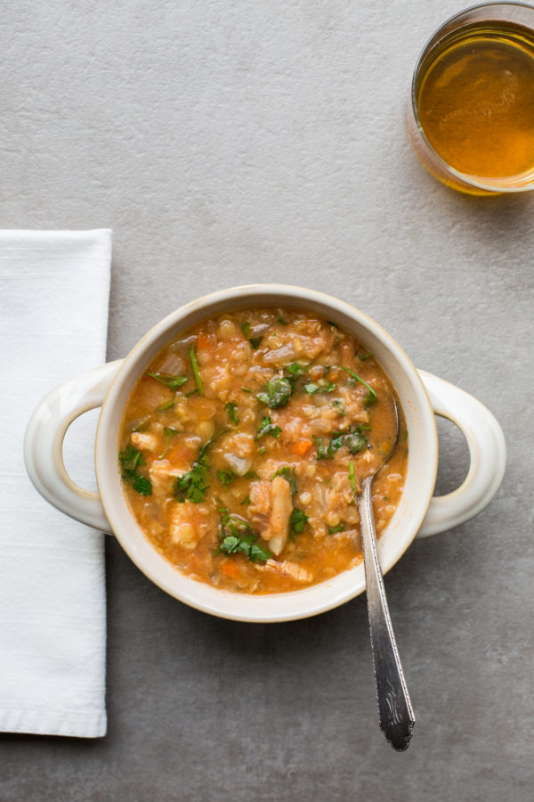 Red Lentil, Fennel and Chicken Slow Cooker Soup / Sarah Crowder / Katie Workman / themom100.com