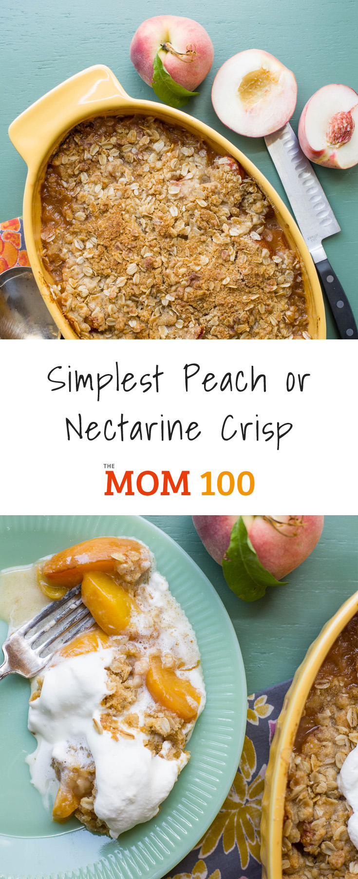 Any stone fruit will be great in this Simplest Peach or Nectarine Crisp, as long as it's perfectly ripe and sweet (but not too soft).