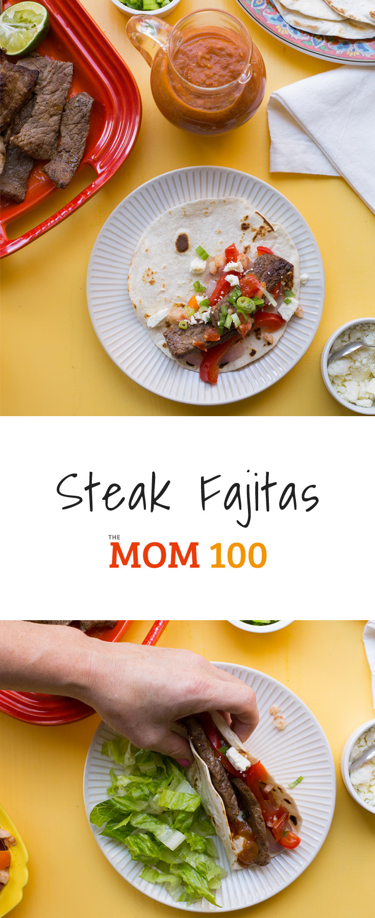 Steak Fajitas are surprisingly easy to make at home, truly, especially if you use a pre-made Fajita seasoning, or some other Mexican seasoning blend. This dinner will instantly make you feel like you are in a good Mexican joint.