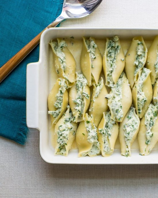 Spinach and Cheese Stuffed Shells / Sarah Crowder / Katie Workman / themom100.com