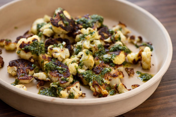 Roasted Cauliflower with Chimichurri Sauce