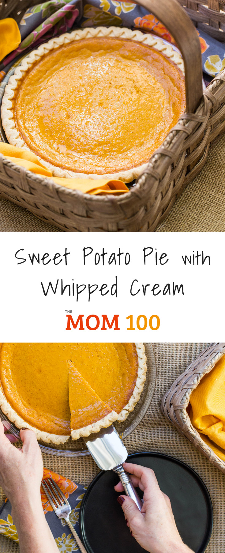 This Sweet Potato Pie with Whipped Cream is so comforting and sweet- a fun twist on the more traditional pumpkin pie. Homemade whipped cream makes the pie!
