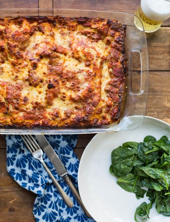 Classic Lasagna with Turkey Sausage / Sarah Crowder / Katie Workman / themom100.com