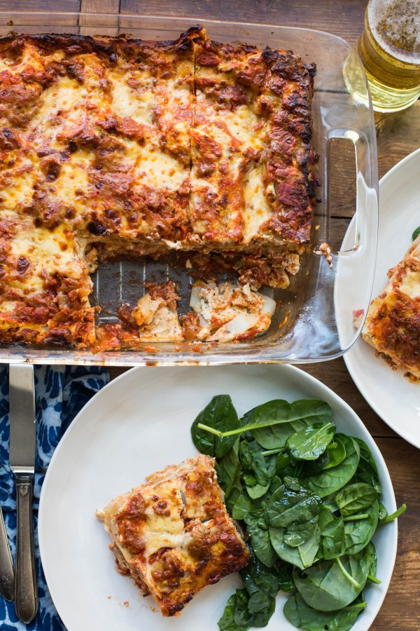 Classic Lasagna with Turkey Sausage / Sarah Crowder / Katie Workman / themom100.com