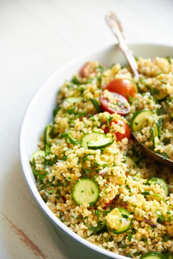 Tomato, Zucchini and Bulgur Salad / Mia / Katie Workman / themom100.com