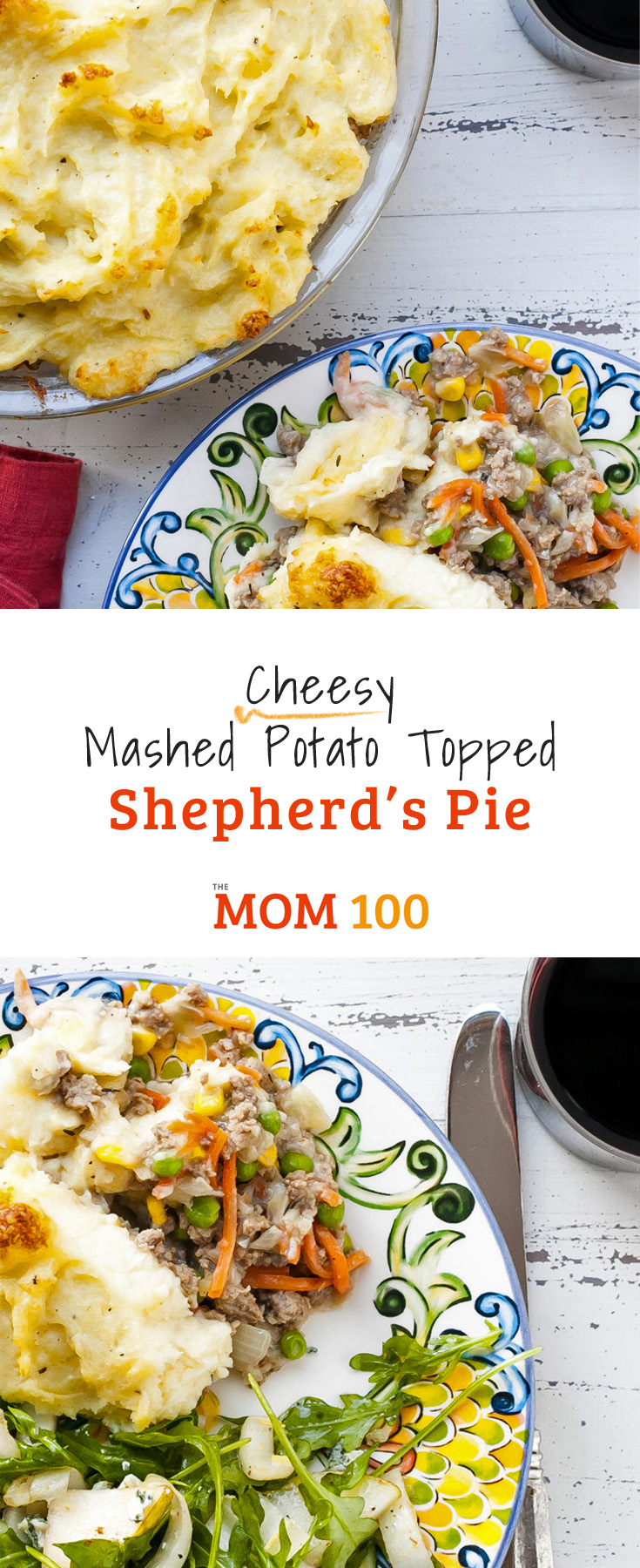 When meat and potatoes co-exist in one homey comfort food like this Cheesy Mashed Potato Topped Shepherd's Pie, happiness and goodwill abound.