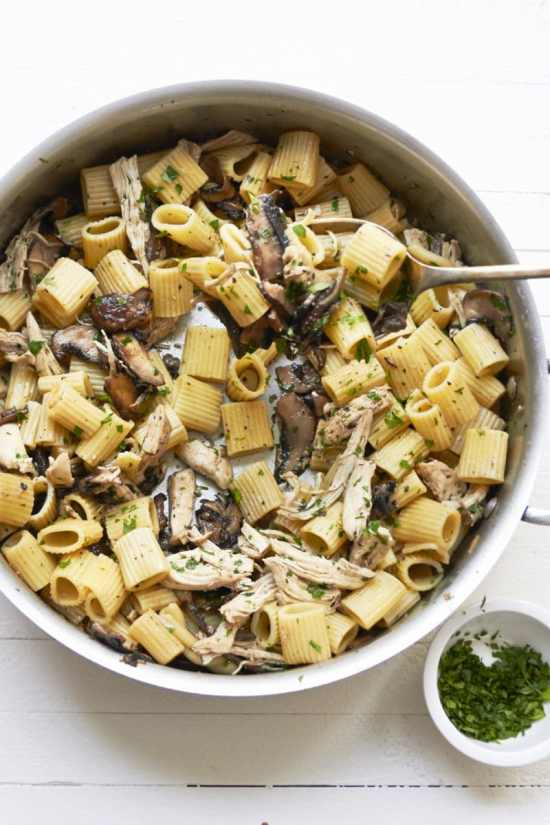 5-Ingredient Pasta: Chicken and Mushroom Marsala Rotelle / Mia / Katie Workman / themom100.com