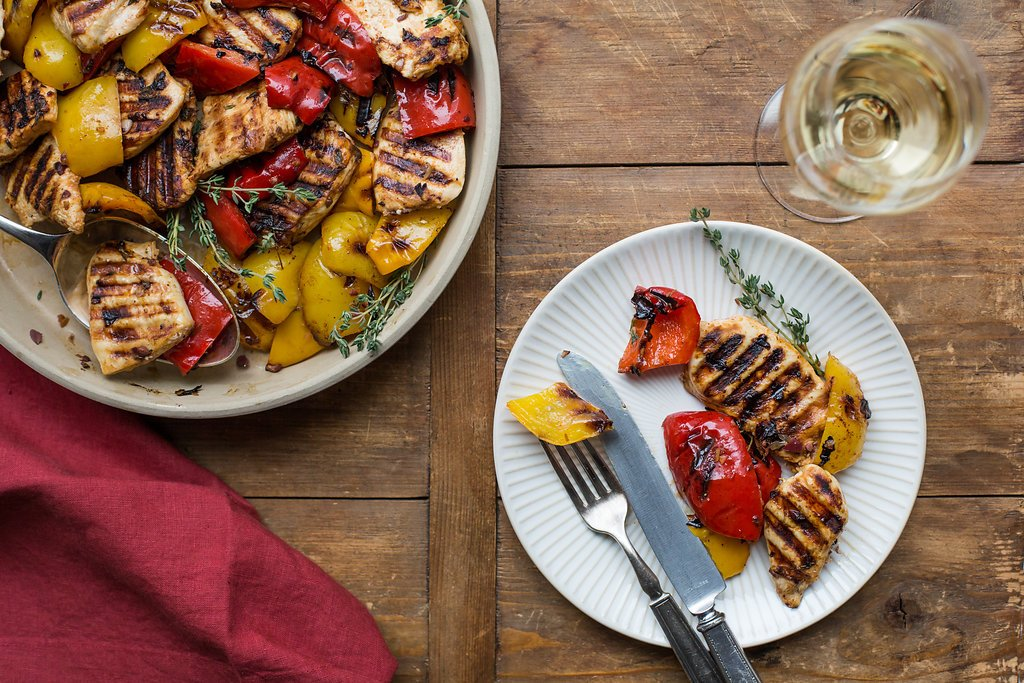 Grilled Provencal Chicken and Peppers / Sarah Crowder / Katie Workman / themom100.com
