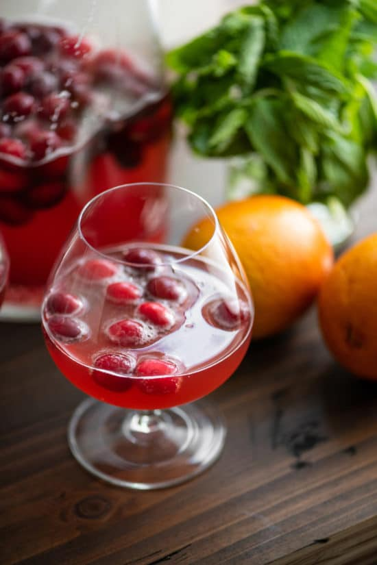 Cranberry Orange Shrub / Katie Workman / themom100.com / Photo by Cheyenne Cohen
