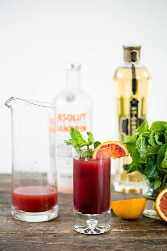 Blood Orange Pomegranate Screwdriver / Katie Workman / themom100.com / Photo by Cheyenne Cohen