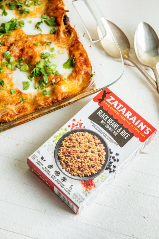 Zatarain's Black Beans and Rice / Katie Workman / themom100.com / Photo by Cheyenne Cohen