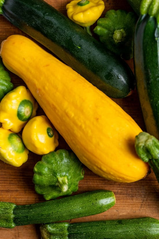 How Big Do Summer Squash and Zucchini Get? / Katie Workman / themom100.com / Photo by Cheyenne Cohen