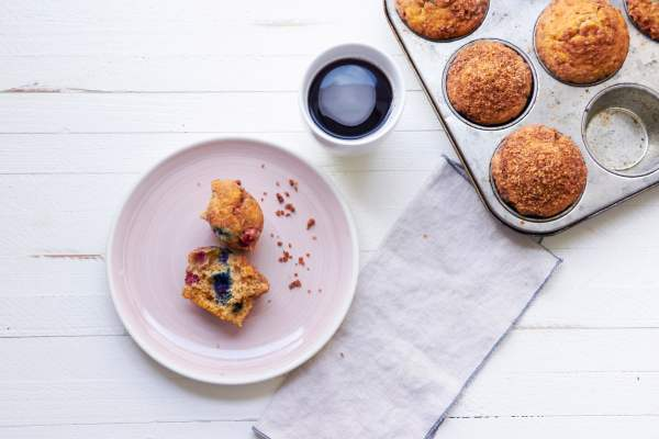 Cinnamon Streusel Muffins / Katie Workman / themom100.com / Photo by Mia