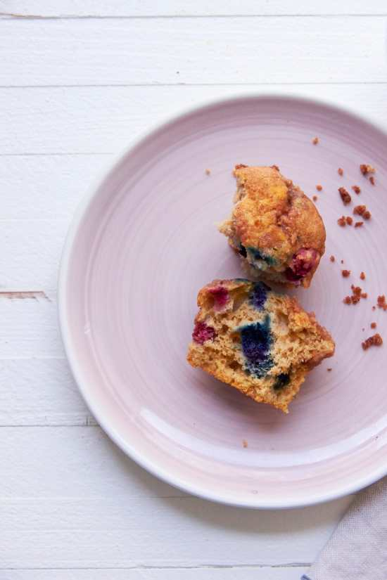 Blueberry Muffins / Katie Workman / themom100.com / Photo by Mia