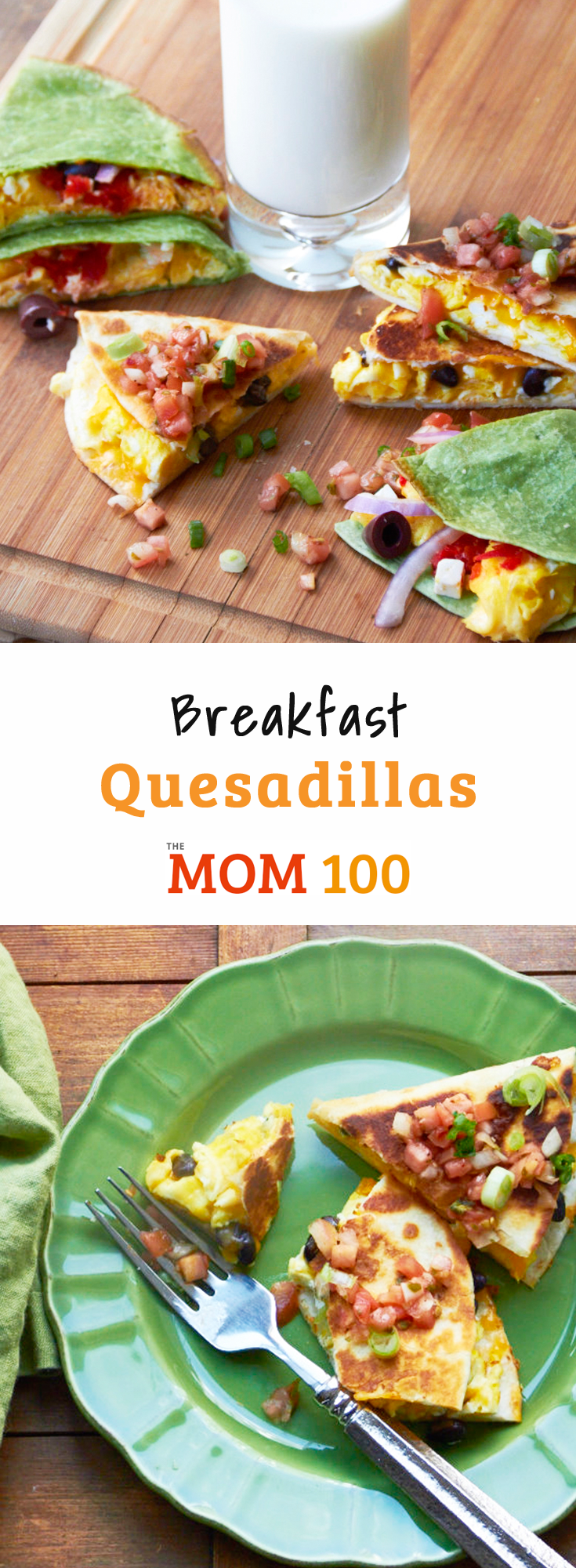 Best Breakfast Quesadillas:  These are a very fine reason to get out of bed in the morning, and flexible so whatever\'s in the fridge works!
