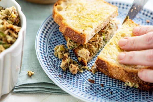 Italian Tuna Salad Sandwich Recipe / Katie Workman / themom100.com / Photo by Cheyenne Cohen