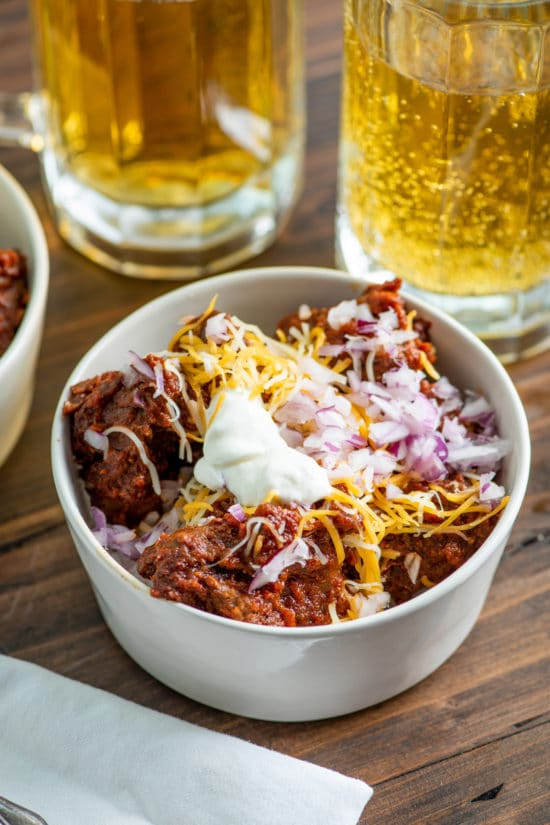 Texas Red Chili / Katie Workman / themom100.com / Photo by Cheyenne Cohen