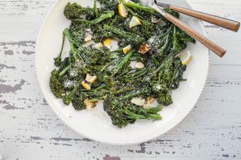 Roasted Broccolini with Lemon / Carrie Crow / Katie Workman / themom100.com