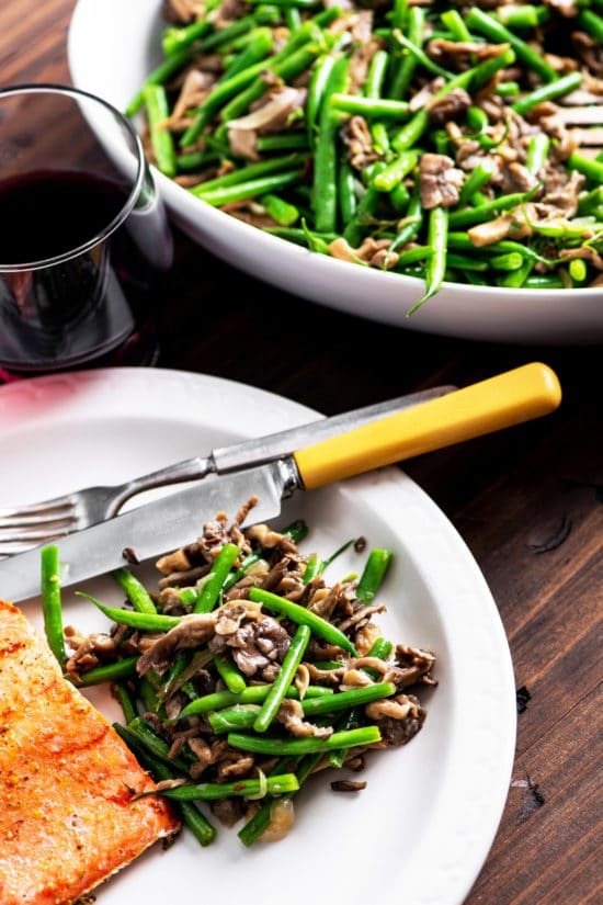 Green Beans and Mushrooms with Shallots
