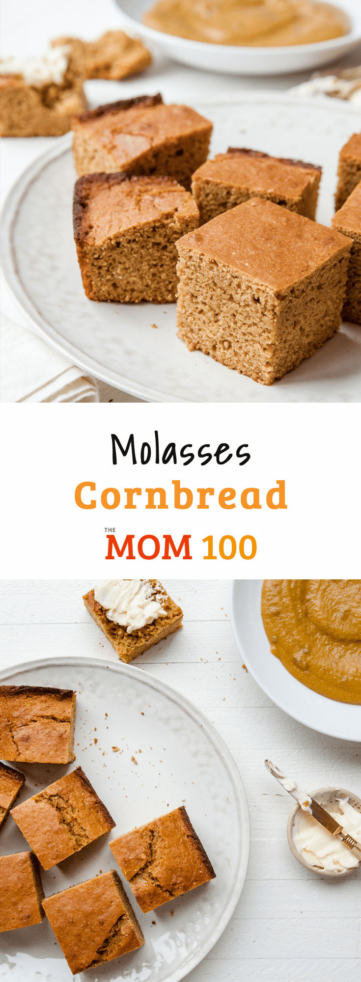 Molasses Cornbread / A little bit of molasses turns simple, basic cornbread into something with a bit more depth and interest.