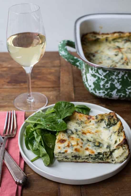 Cheesy White and Green Spinach Lasagna