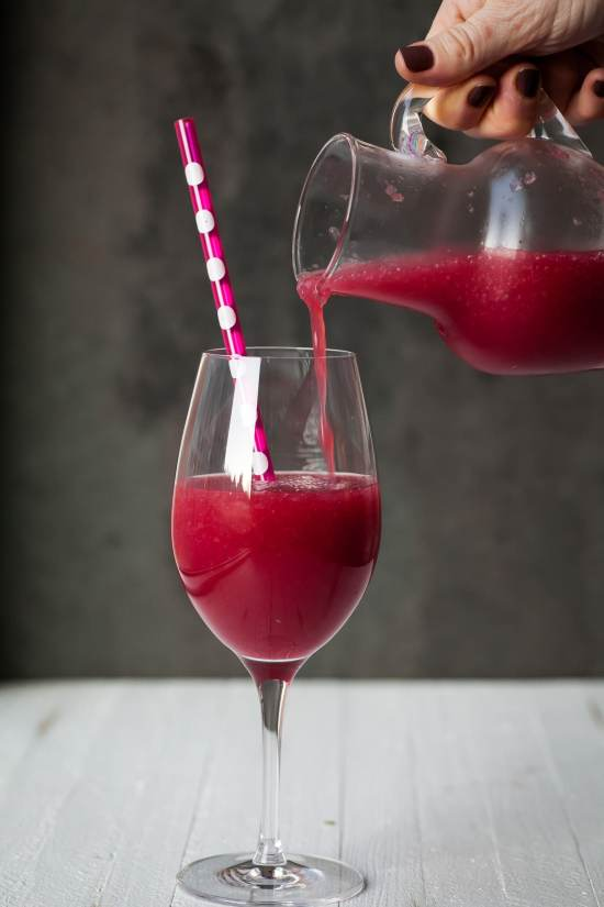 Frozen Pomegranate and Citrus Cocktail / Carrie Crow / Katie Workman / themom100.com