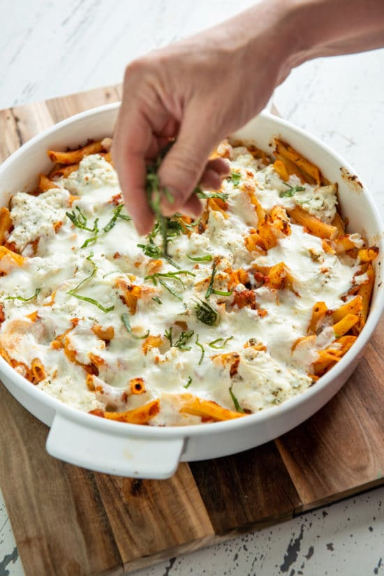 Easy Baked Pasta / Katie Workman / themom100.com / Photo by Cheyenne Cohen