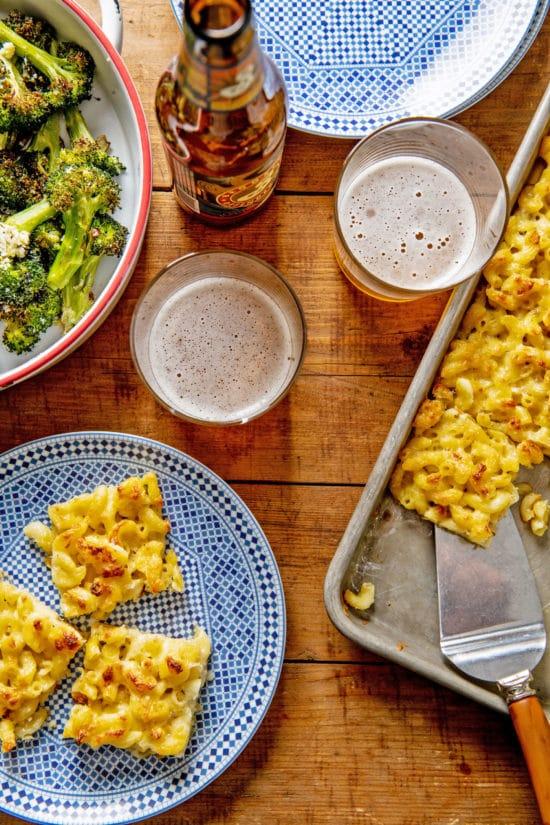 Sheetpan Macaroni and Cheese Squares