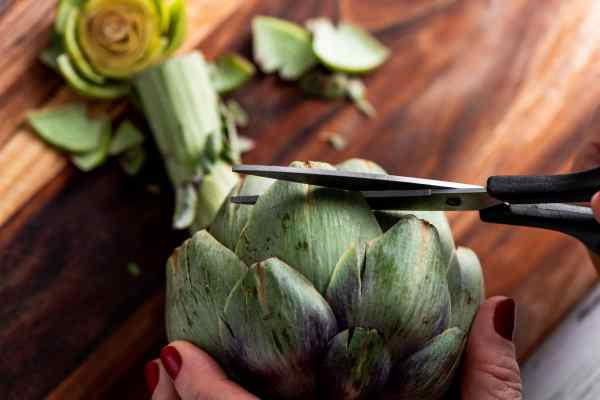 How to Cook Artichokes - Trimming the Leaves