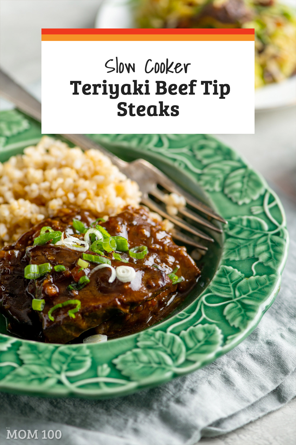 Slow Cooker Teriyaki Beef Tip Steaks: This Asian Crock Pot dinner with a gorgeous glaze smells amazing, and tastes even better.