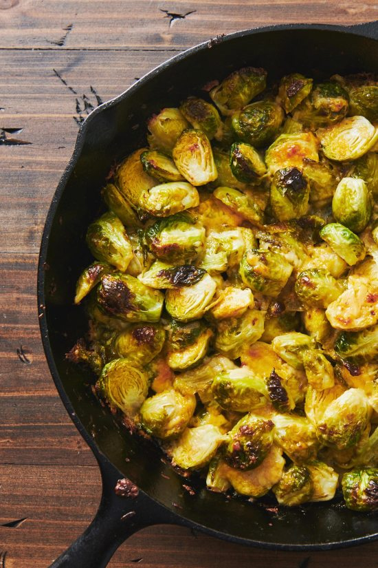 Cheesy Baked Brussels Sprouts