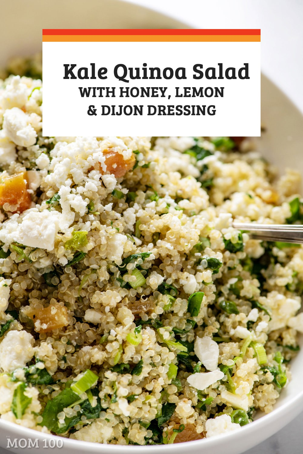 This Kale Quinoa Salad with Honey, Lemon and Dijon Dressing is packed with flavor and texture and color; a grain salad to play with for a long time.