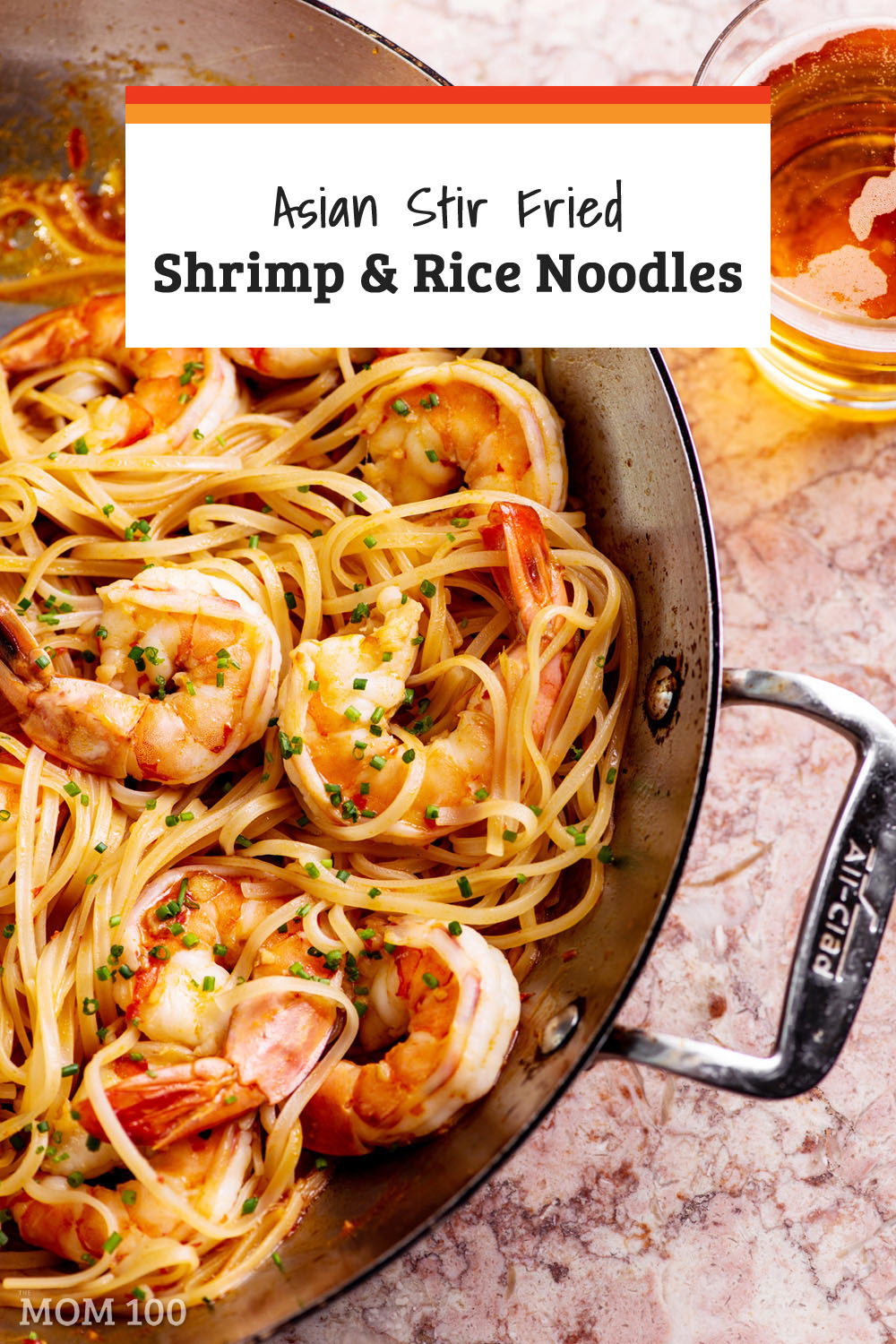 Asian Stir Fried Shrimp and Rice Noodles: In this 20-MINUTE weeknight stir fry, springy rice noodles surround plump shrimp with a nice lacing of Asian flavors.  If you like Pad Thai, this dish is definitely for you!