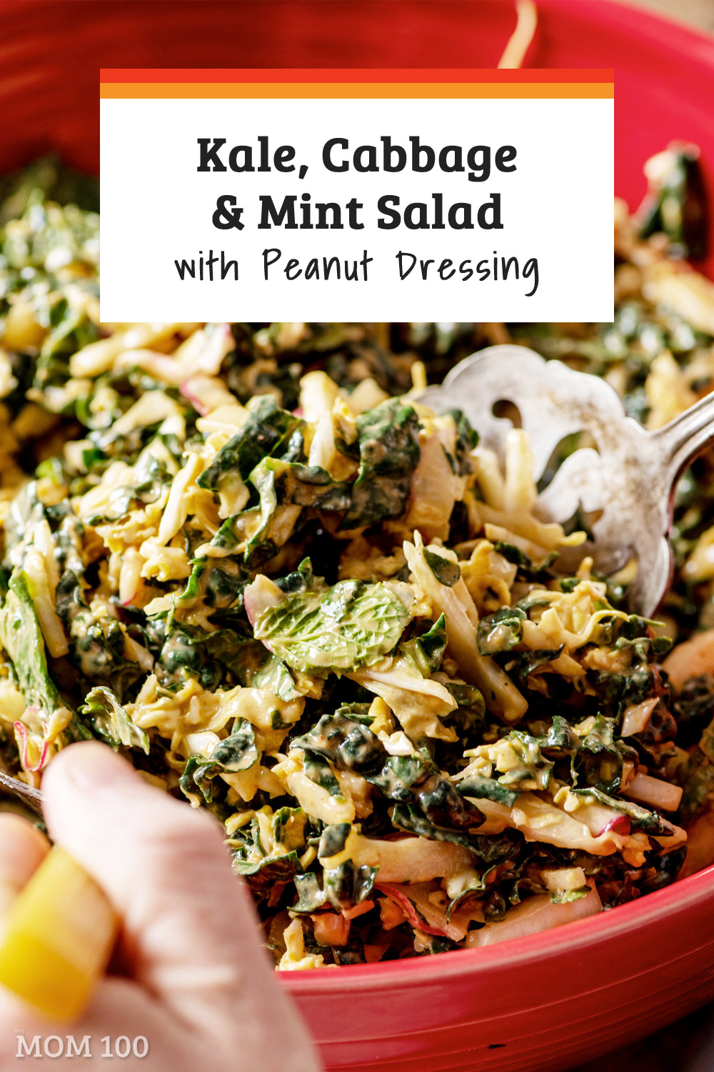 Kale, Cabbage and Mint Salad with Peanut Dressing: For those of you who don\'t think a green salad can be satisfying and satiating, this is a must-try. #salad #healthy