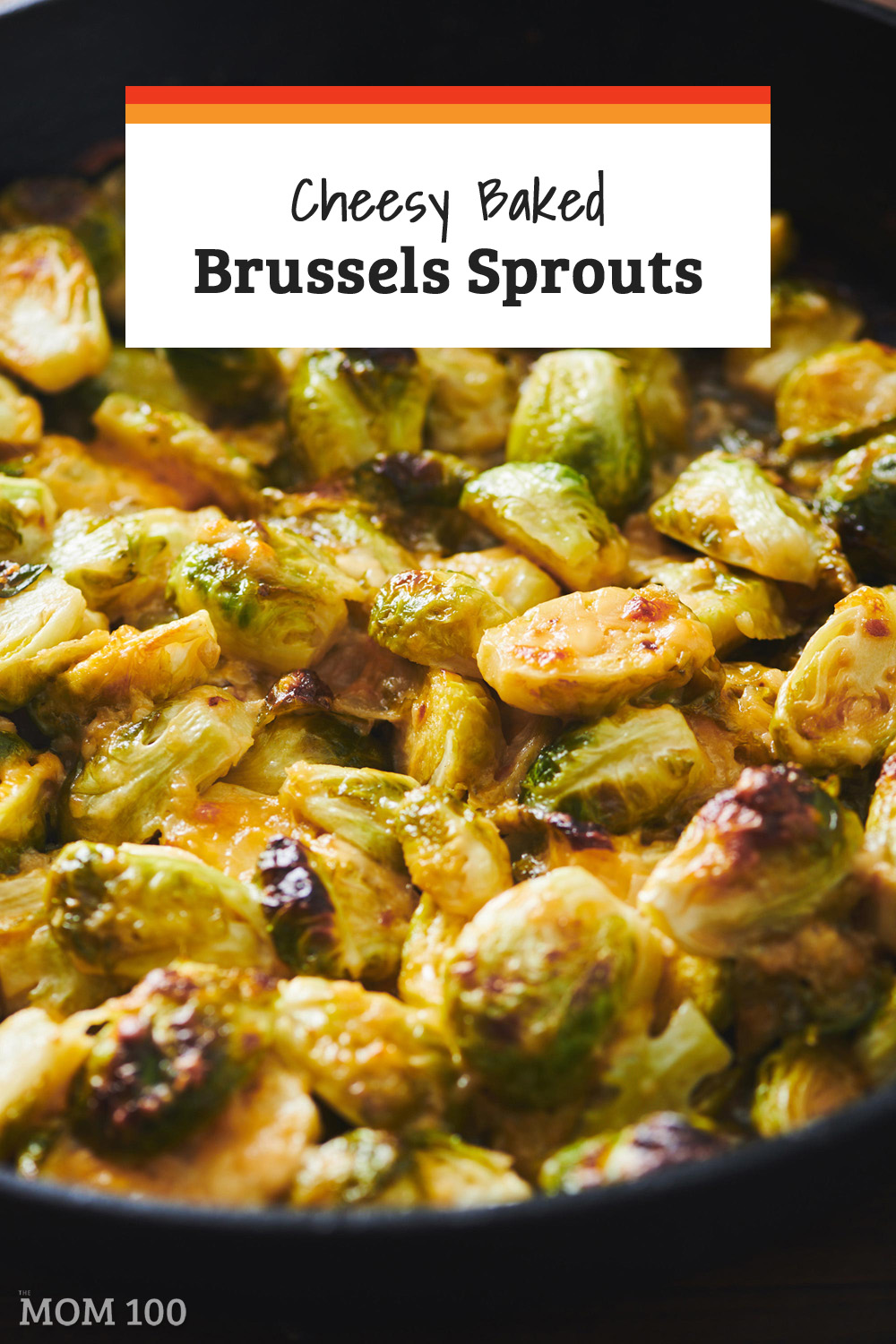 These easy, Cheesy Baked Brussels Sprouts are absolutely delicious, kind of like a Brussels sprout gratin. #sidedish #vegetarian #gf