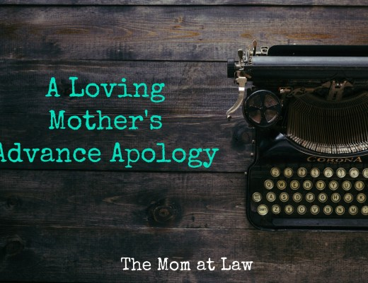 Loving Mother's Apology