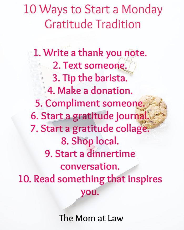 Monday Gratitude Tradition