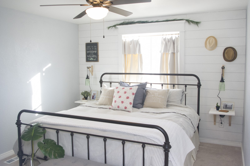 Modern Farmhouse Bedroom Redesign