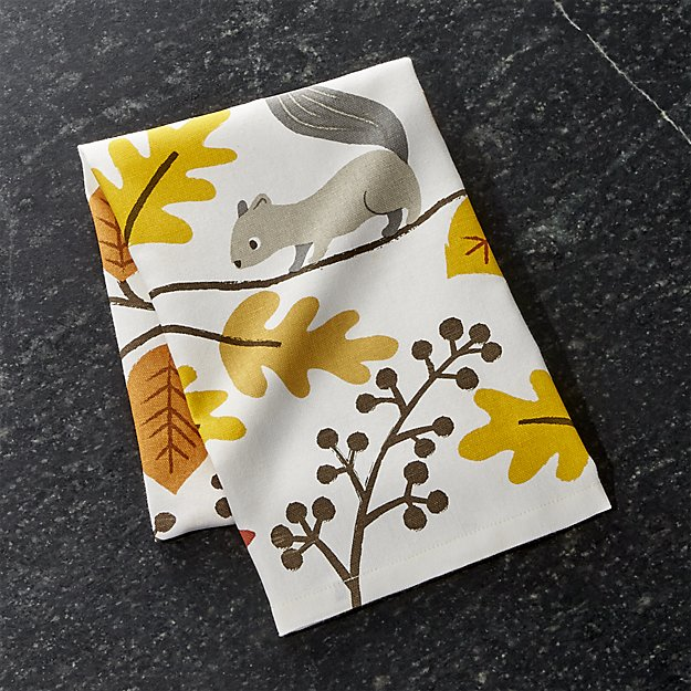 acorn-forest-dish-towel