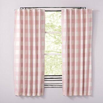 pink-buffalo-check-curtains
